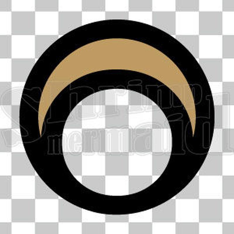 シンプル/色付き黒/png/O