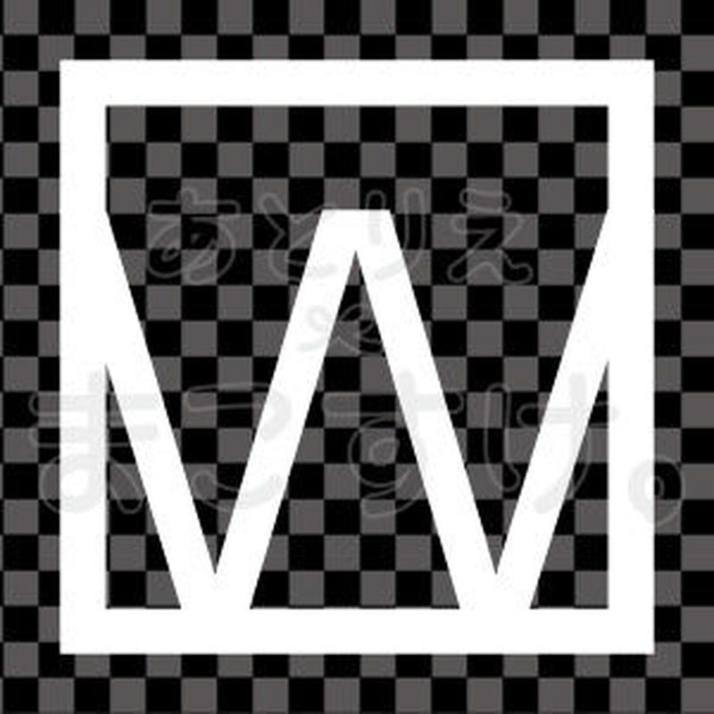 和モダン/白/png/W
