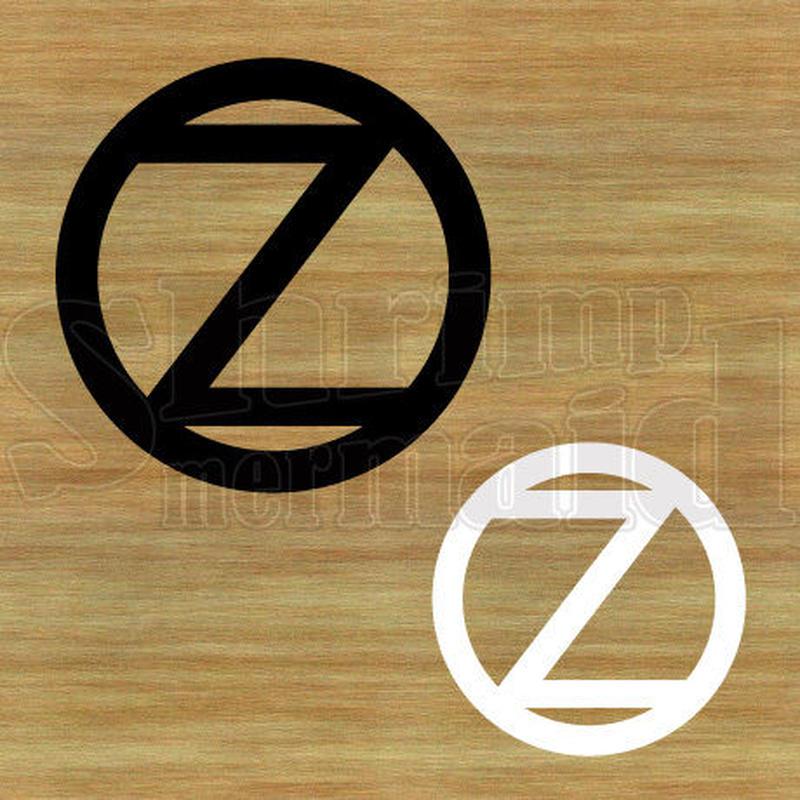 ステッカー・アイロンシート / シンプル / 白黒 / Z