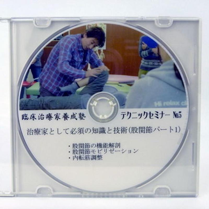 臨床治療家養成塾テクニックセミナー DVD No.5 股関節パート1