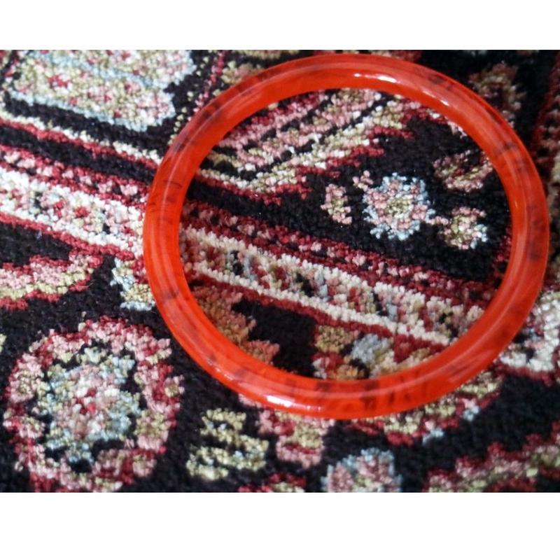 BAKELITE Bangle CLEAR ORANGE