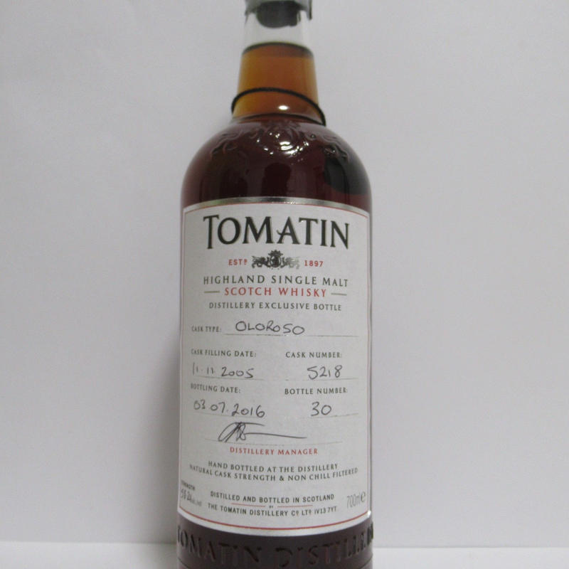 トマチン10年 蒸留所限定ボトル Tomatin 2005 10 Year Old Distillery Exclusive 58.2%