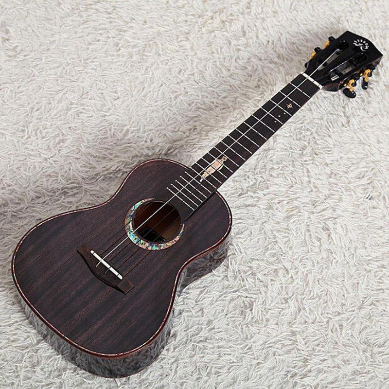【ケース付き】◆Realsun ukulele AAAAA級マホガニーオール単板 テナーウクレレ ピックアップ搭載 スロテッドヘッド NV101T◆