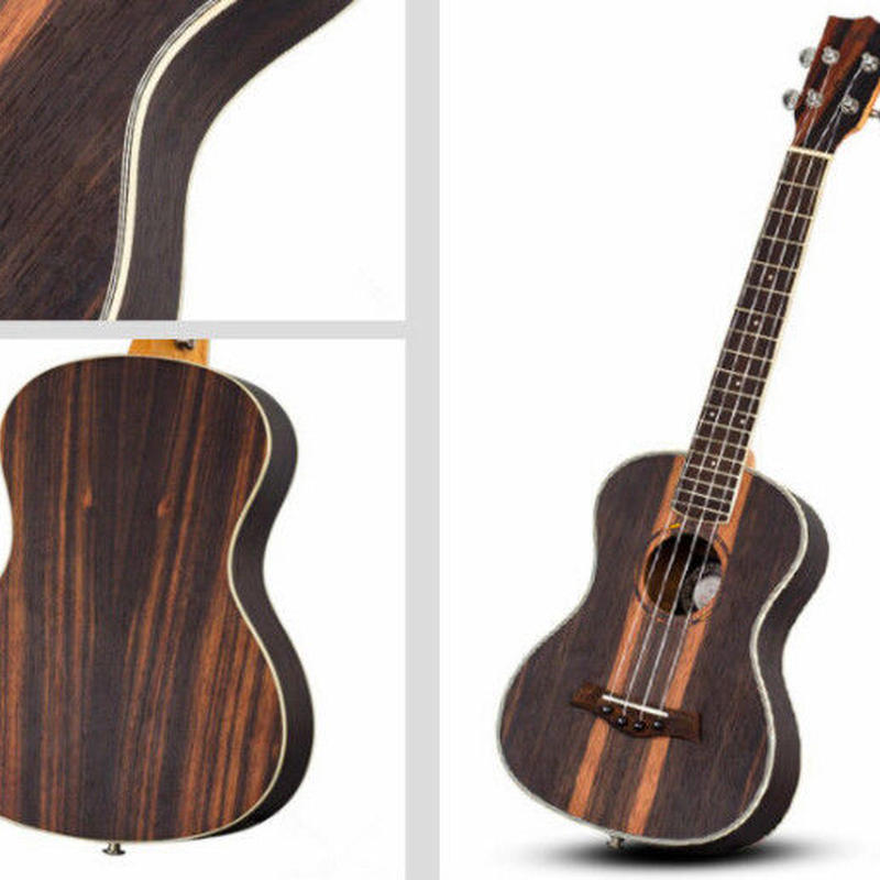 ◇ANDREW ukulele 美木目!AAA級黒檀材 テナーウクレレ ピックアップ付 良質なサウンド HTM-T1◇