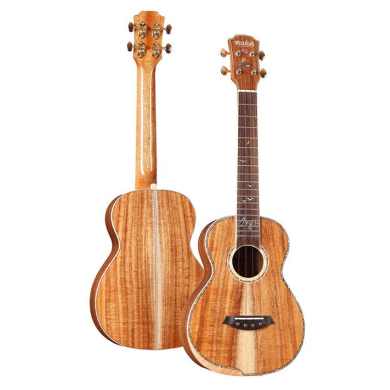 【おまけ付き】劇鳴り Mauloa ukulele AAAA級コアオール単板 テナーウクレレ 美インレイ 完全手作り スロテッドヘッド TT-80◆