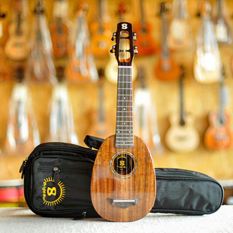 ▼オール単板!劇鳴! AAAA級アカシア材 bright sun ukulele ソプラノウクレレ パイナップル型 スロテッドヘッド仕様▼