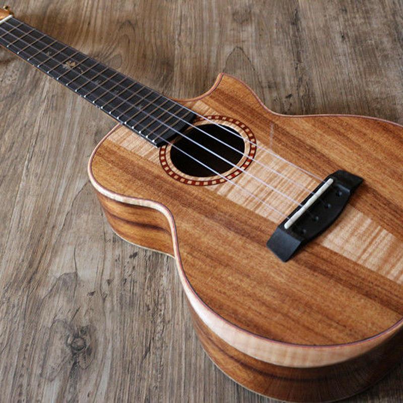 ◇Sinye ukulele 美木目!AAAA級メイプル&アカシア材 コンサートウクレレ 高級ケース付 カッタウェイ スロテッドヘッド◇