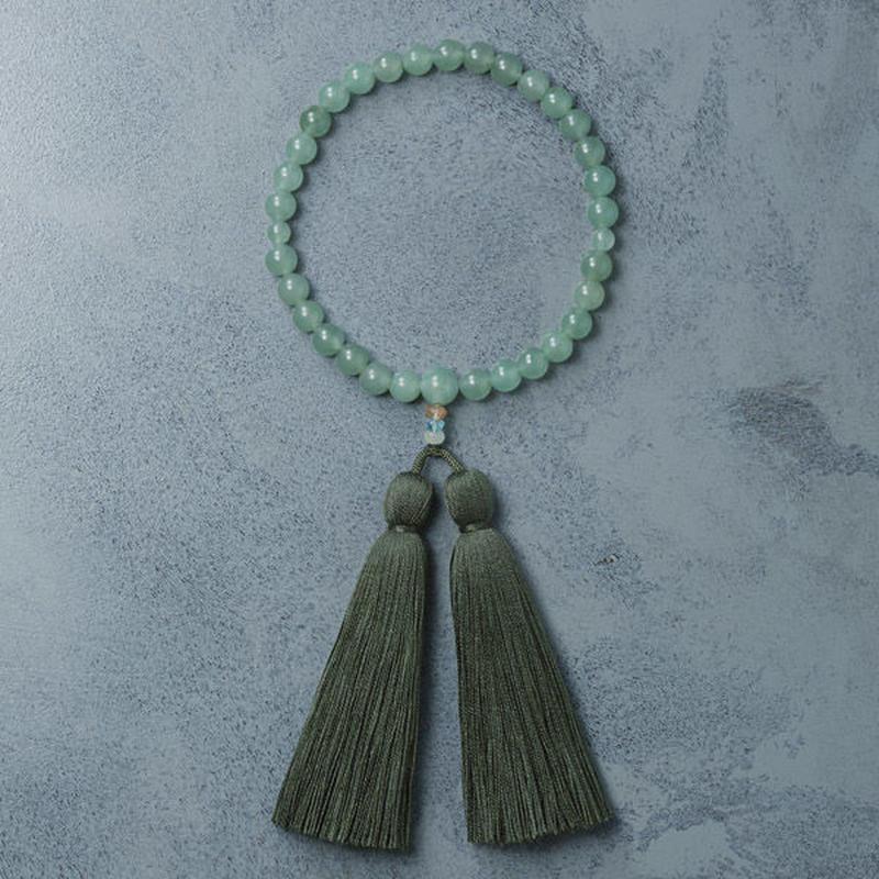 shuo14019 Juzu (Green Aventurine × Moss Green) 女性用