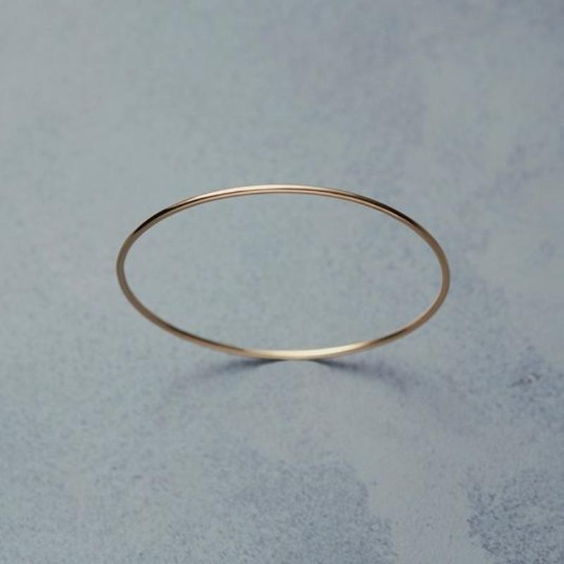 shuo18002  K18YG Bangle(1.8mm)