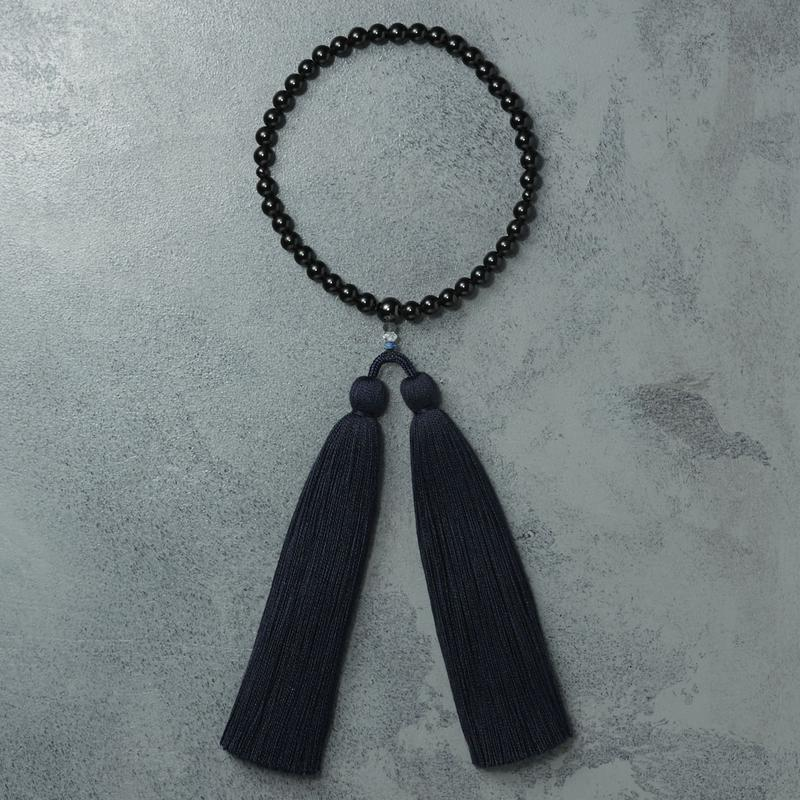 shuo16005 Juzu(Black tourmaline×Navy) 女性用