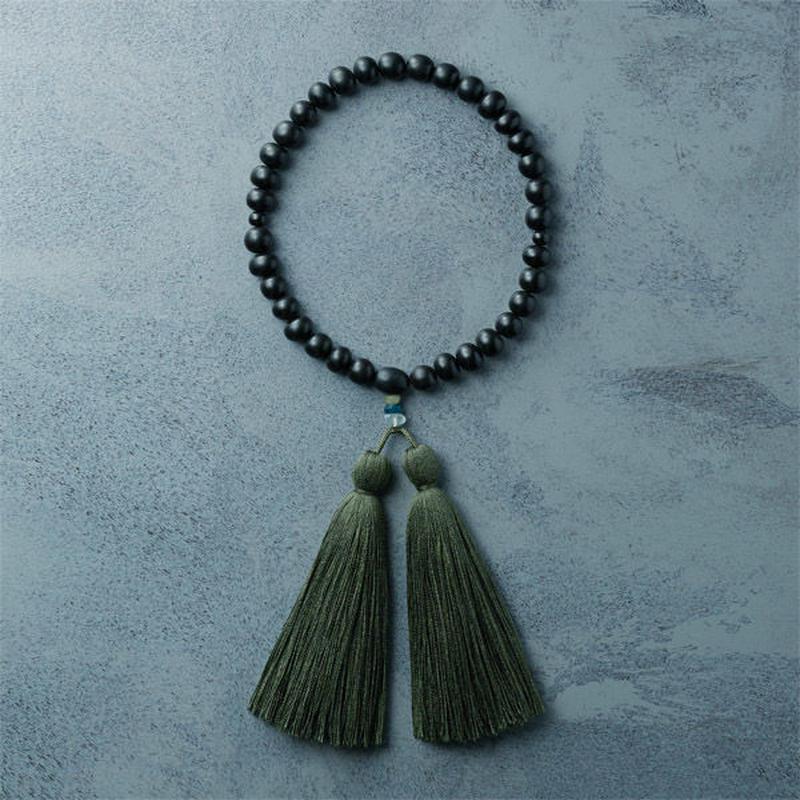 shuo13024  Juzu  (Black Horn × Moss Green) 男性用
