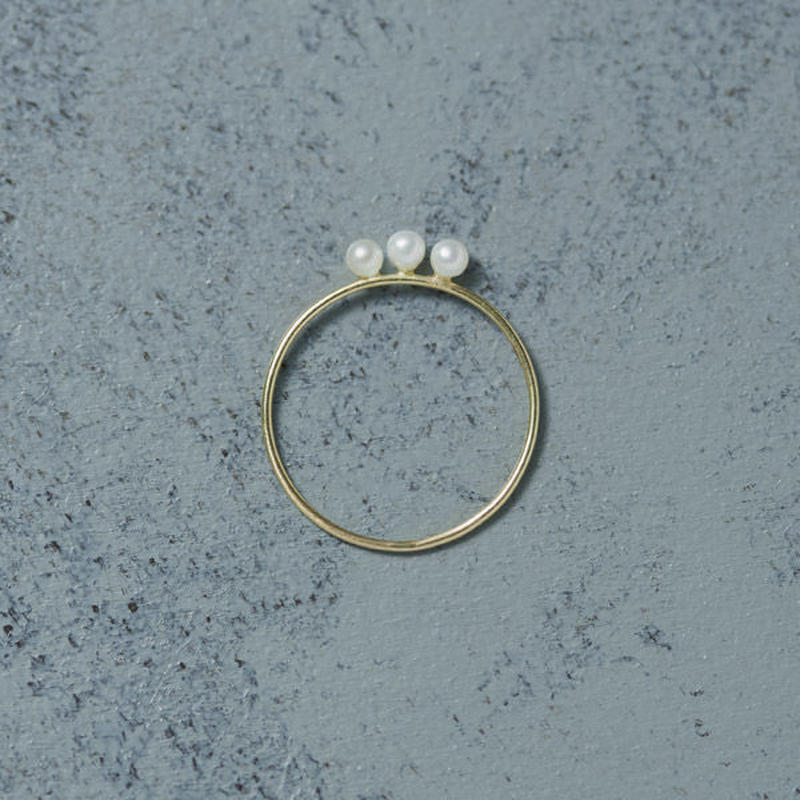 shuo15012  Pearl Pinky Ring