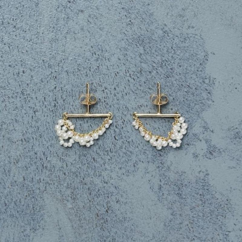 12006 Drop Pearl Piercing (K18)