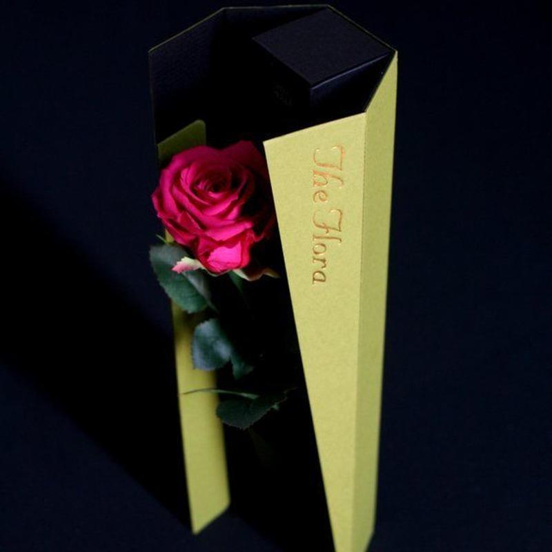 [プリザ]飛び出すバラ The Flora /ピンク