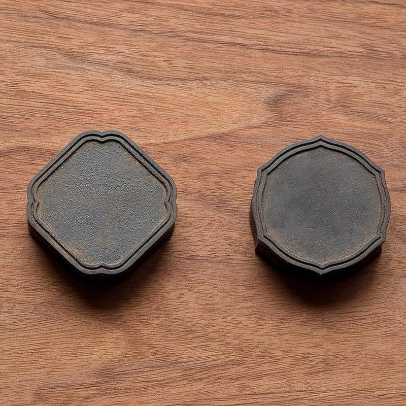 真鍮 朱肉入れ(黒)