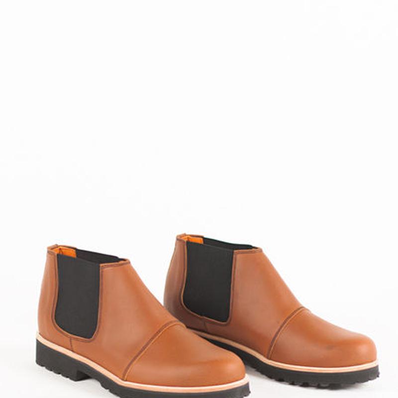 Deux Souliers - Chelsea Boot #2 Natural サイドゴア・アンクルブーツ (ブラウン)【スペイン】【靴】【シューズ】【インポート】【VOGUE】