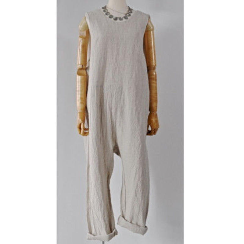 18-SS011 LINEN CANVAS COVERALLS