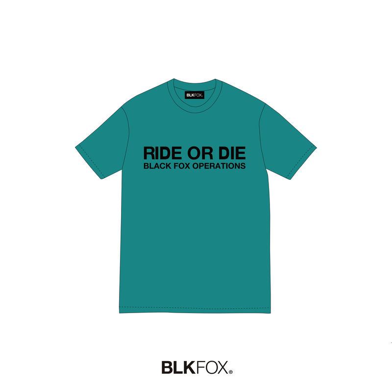 【予約販売】BLKFOX T-Shirt 05 / CYAN × BLACK