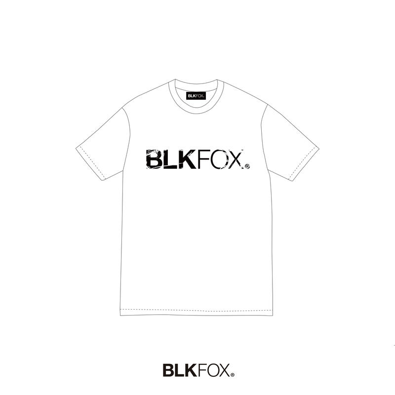 【予約販売】BLKFOX T-Shirt 04 / WHITE × BLACK