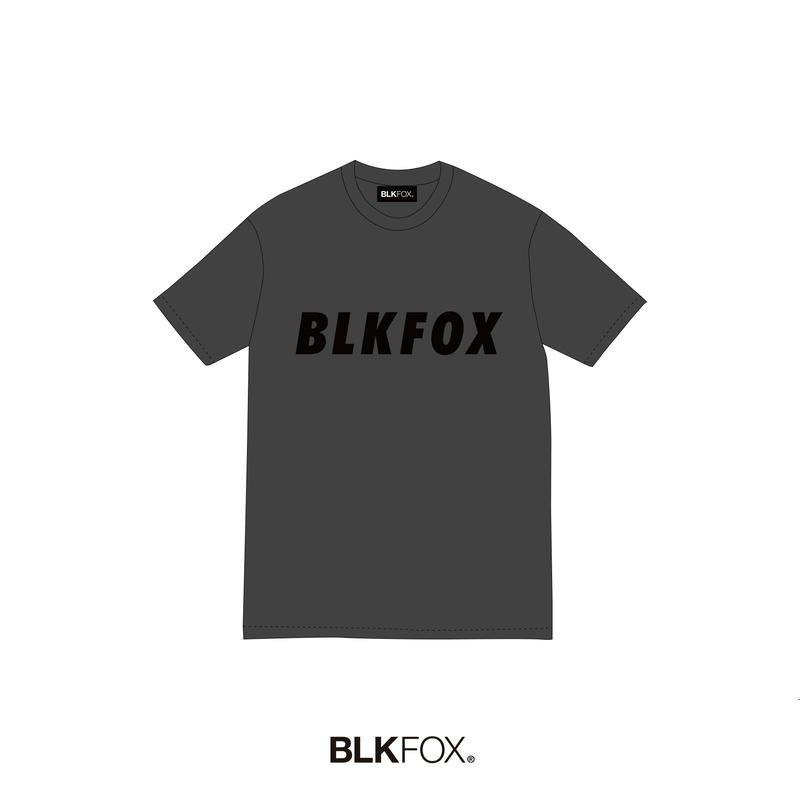【予約販売】BLKFOX T-Shirt 08 / GRAY × BLACK