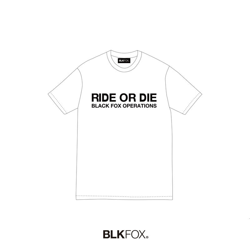 【予約販売】BLKFOX T-Shirt 05 / WHITE × BLACK