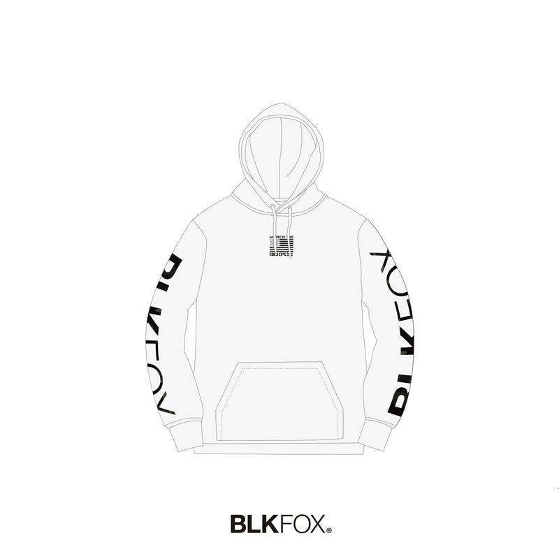 【予約販売】BLKFOX HOODIES 02 / WHITE × MCBK
