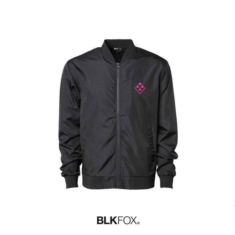 【予約販売】BLKFOX BOMBER JACKET 01 / BLACK × PINK