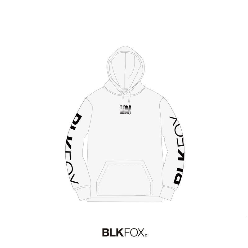 【予約販売】BLKFOX HOODIES 02 / WHITE x BLACK