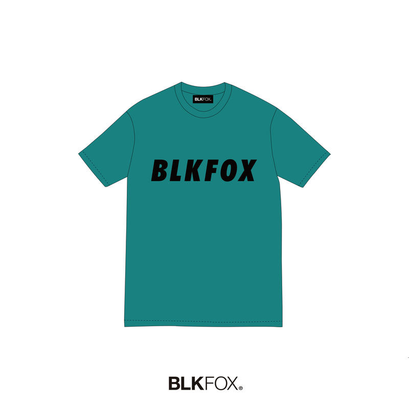【予約販売】BLKFOX T-Shirt 08 / CYAN × BLACK