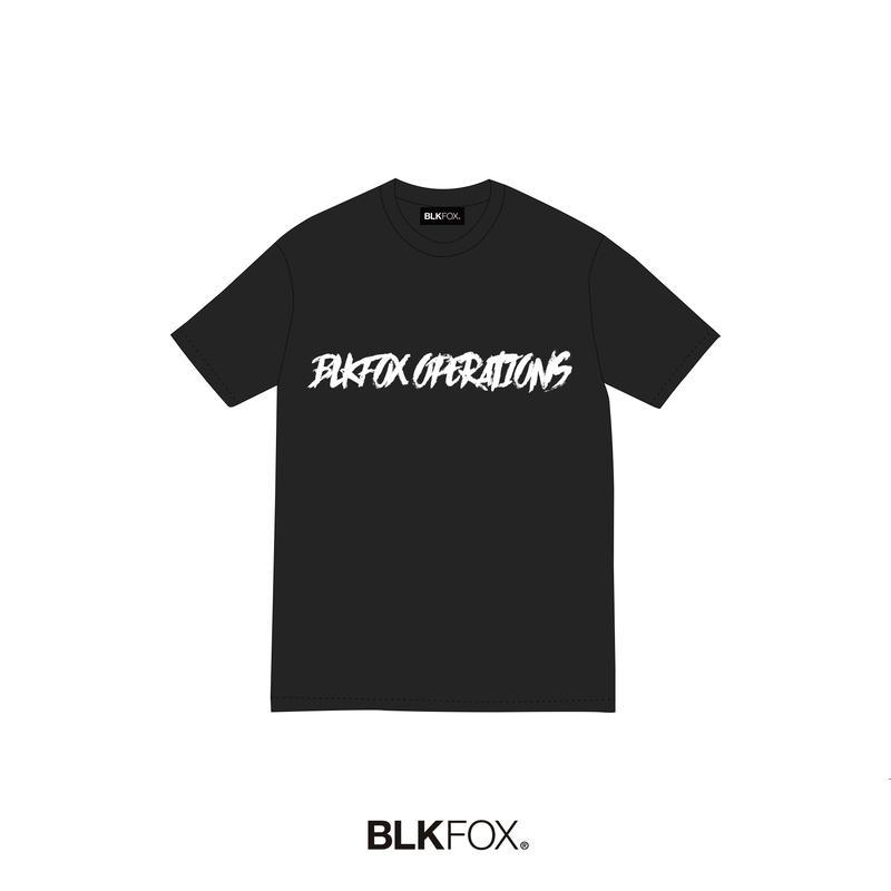 【予約販売】BLKFOX T-Shirt 07 / BLACK × WHITE