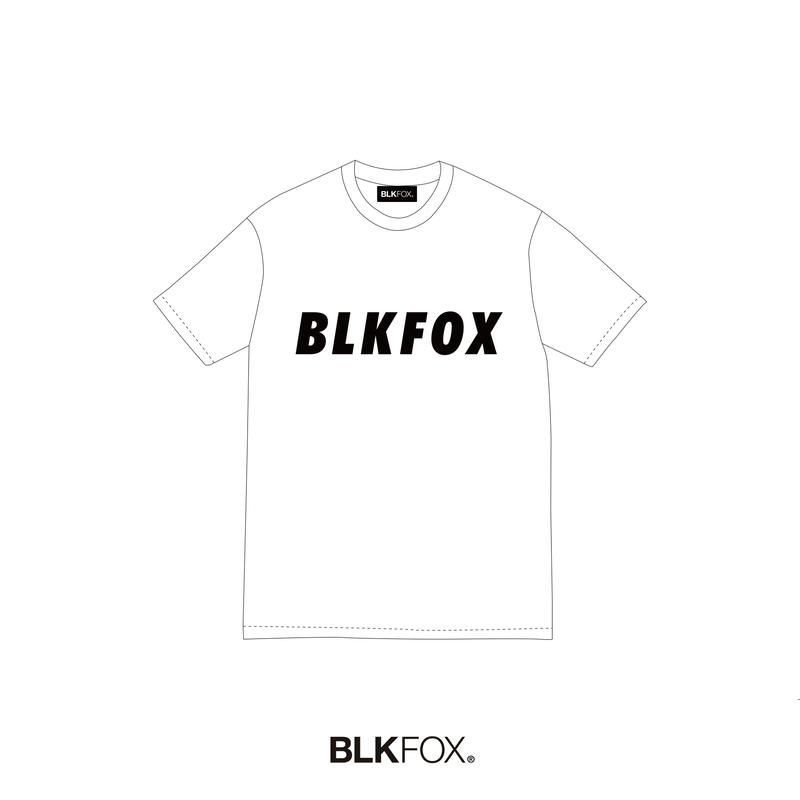 【予約販売】BLKFOX T-Shirt 08 / WHITE × BLACK
