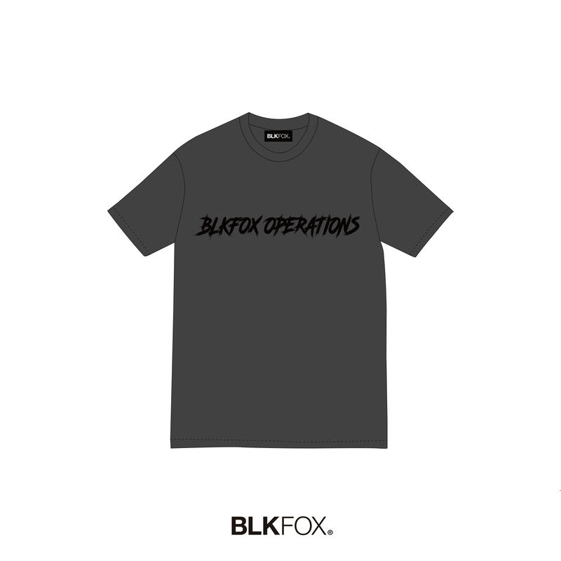【予約販売】BLKFOX T-Shirt 06 / GRAY × BLACK