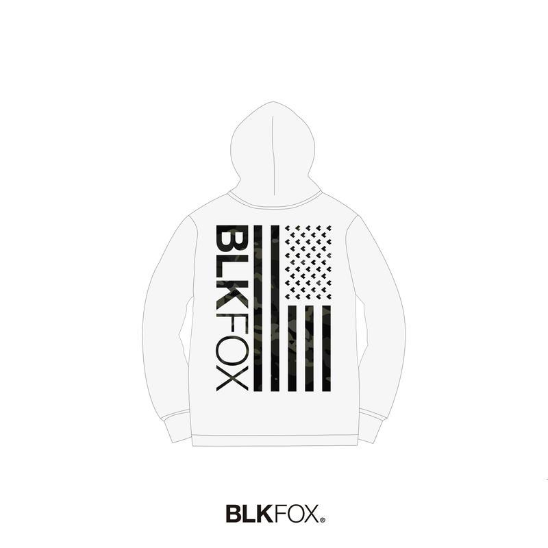 【予約販売】BLKFOX HOODIES 01 / WHITE x MCBK