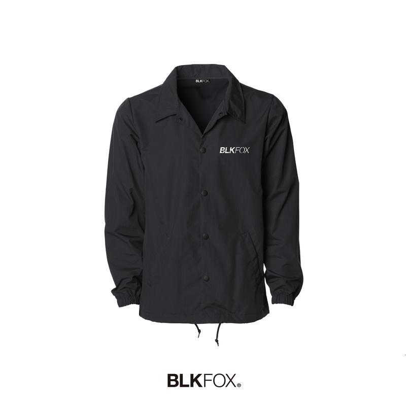【予約販売】BLKFOX COACH JACKET 02 / BLACK × WHITE