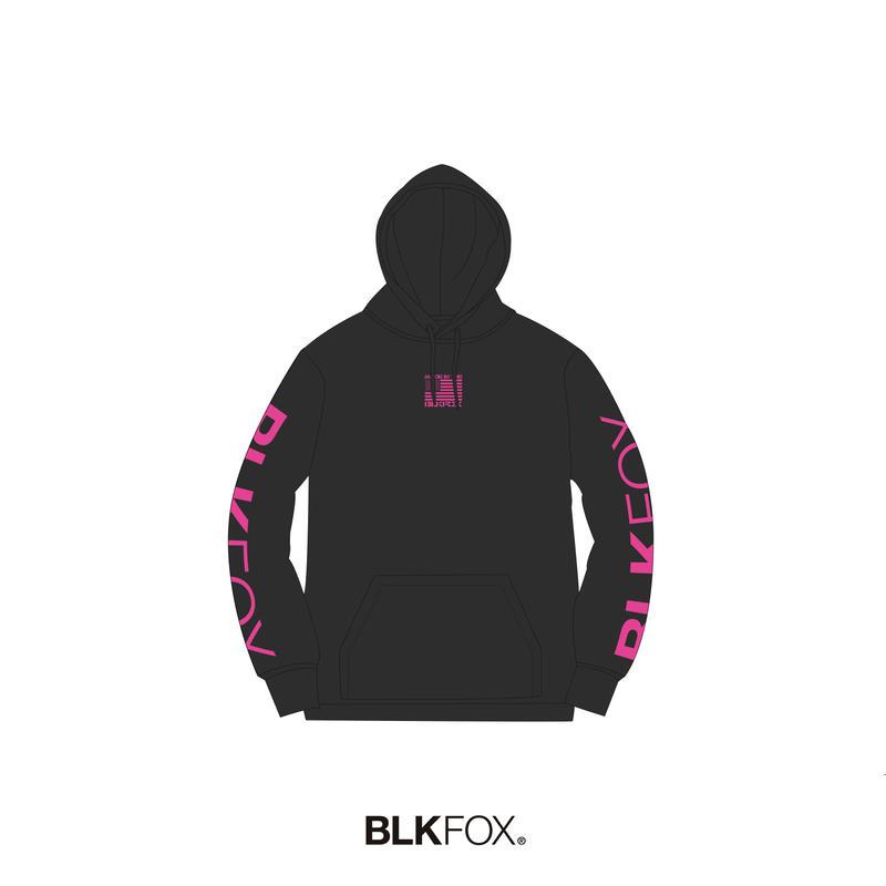 【予約販売】BLKFOX HOODIES 02 / BLACK x  PINK