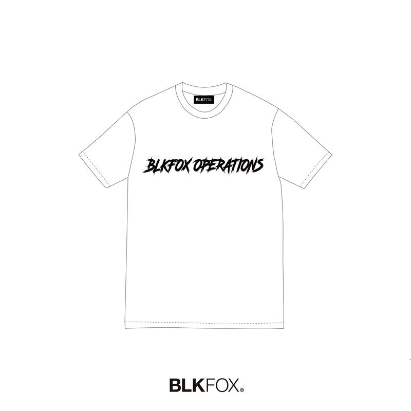【予約販売】BLKFOX T-Shirt 06 / WHITE × BLACK
