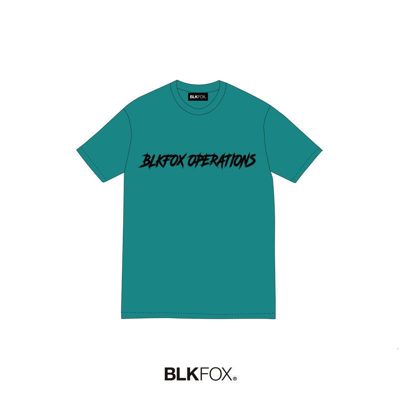 【予約販売】BLKFOX T-Shirt 06 / CYAN × BLACK