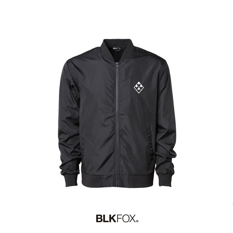 【予約販売】BLKFOX BOMBER JACKET 01 / BLACK × WHITE