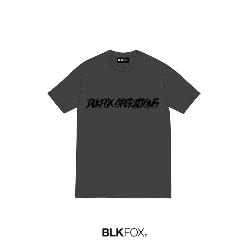 【予約販売】BLKFOX T-Shirt 07 / GRAY × BLACK
