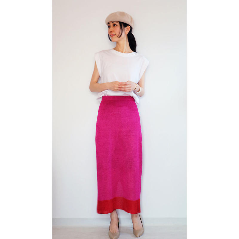 ◆即納◆Sualocin[スアロキン] ナロー・スカート2 / ピンク系1 / Mサイズ
