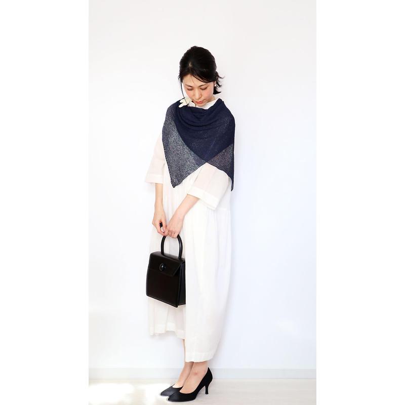 ◆即納◆Saiph[サイフ] 裾ラメ・エアリーストール / ネイビー・ブルー