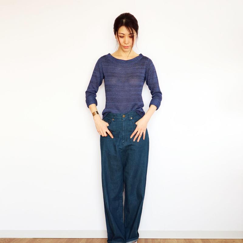 ◆即納◆Crux[クルックス] ラウンドネック・セーター / ブルー系2 / Mサイズ