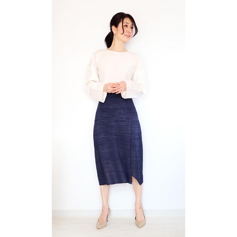 ◆予約◆Hydra[ヒドラ] ペンシル・スカート / ネイビー・ブルー