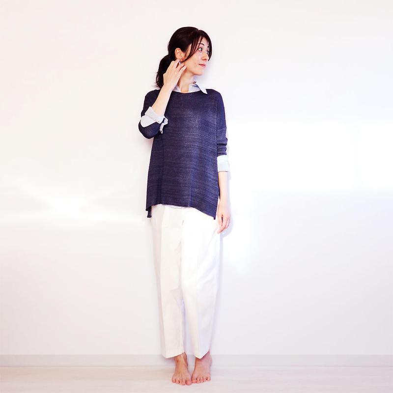 ◆即納◆Ursa[ウルサ] ボクシー・セーター8 / ネイビー・ブルー / Mサイズ
