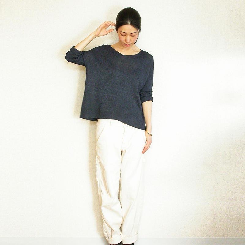 ◆予約◆Vela[ベラ] ボクシー・セーター2 / ネイビー・ブルー