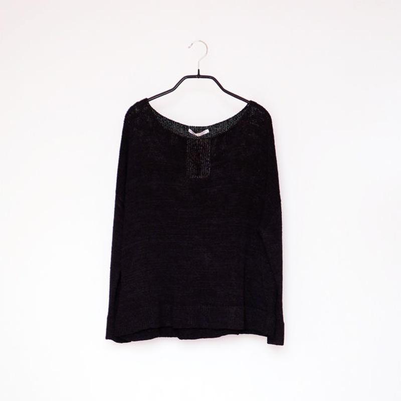 ◆予約◆Aries[アリエス] ボクシー・セーター1 / ブラック / Mサイズ
