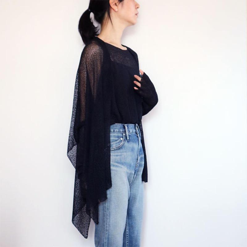 ◆6月末入荷◆Alwaid[アルワイド] オールカバー袖付きストール / ブラック