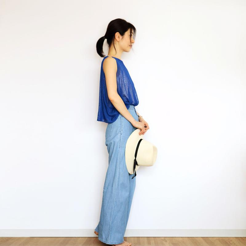 ◆即納◆Scutum[スクトゥム] ベアショルダー・ポンチョ短丈 / ロイヤル・ブルー
