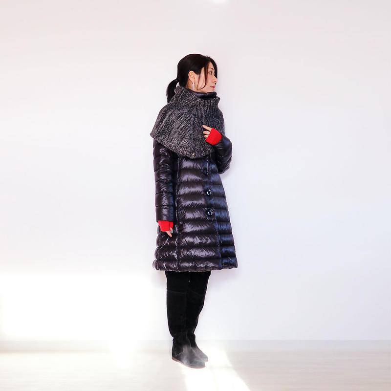 ◆即納◆Menkab[メンカブ] シルクモール・スヌード・ケープ2 / ブラック系1