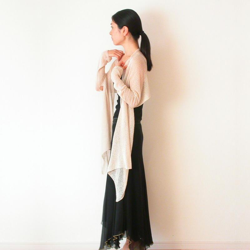 ◆即納◆Rigel [リゲル] 袖付きストール / ビーチサンド・ベージュ